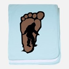 Bigfoot print b2 baby blanket