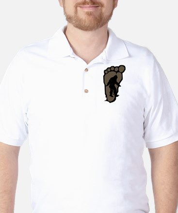 Bigfoot print b2 Golf Shirt