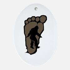 Bigfoot print b2 Ornament (Oval)
