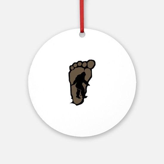 Bigfoot print b2 Ornament (Round)