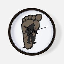 Bigfoot print b2 Wall Clock