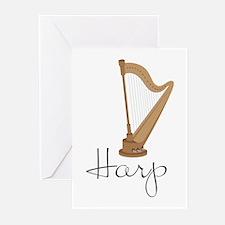 Harp Greeting Cards