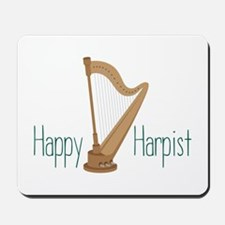 Happy Harpist Mousepad