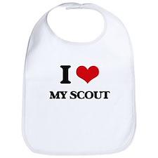 I Love My Scout Bib