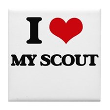 I Love My Scout Tile Coaster