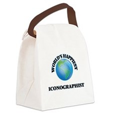 World's Happiest Iconographist Canvas Lunch Bag