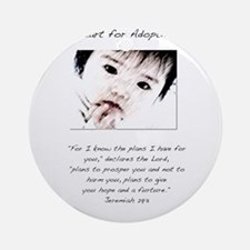 Adoption Design Asian Baby.jpg Ornament (Round)