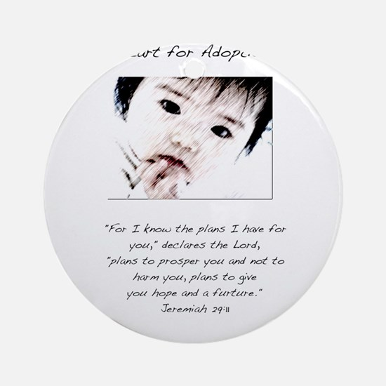 Adoption Design Asian Baby.jpg Ornament (Round)