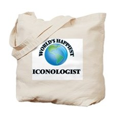 World's Happiest Iconologist Tote Bag