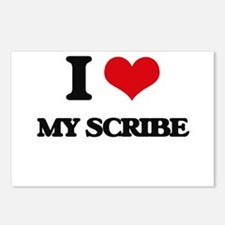 I Love My Scribe Postcards (Package of 8)