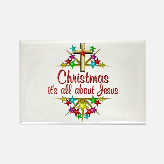 Christmas About Jesus Rectangle Magnet