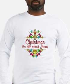 Christmas About Jesus Long Sleeve T-Shirt