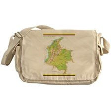 Colombia Green map Messenger Bag