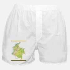 Colombia Green map Boxer Shorts