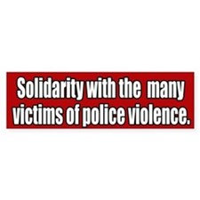 Victims Of Police Violence Bumper Car Sticker
