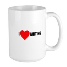I Heart Farting Mug Mugs