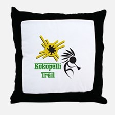 KOKOPELLI TRAIL Throw Pillow