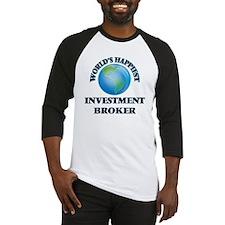 World's Happiest Investment Broker Baseball Jersey