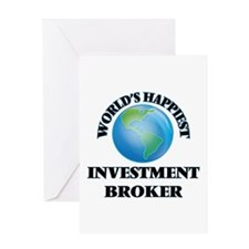 World's Happiest Investment Broker Greeting Cards