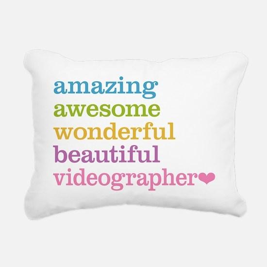 Videographer Rectangular Canvas Pillow