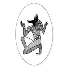 Anubis - Eqyptian Diety Oval Decal