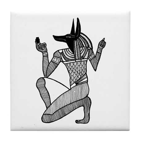 Anubis - Eqyptian Diety Tile Coaster
