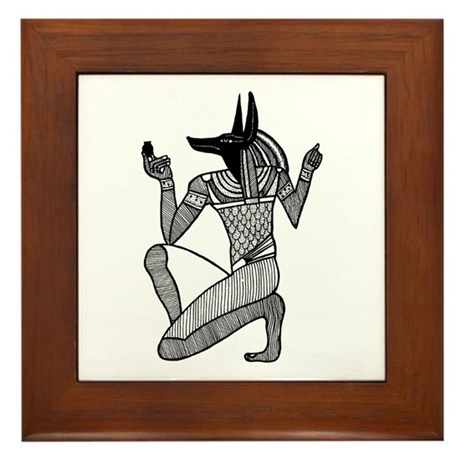 Anubis - Eqyptian Diety Framed Tile