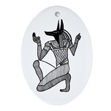 Anubis - Eqyptian Diety Oval Ornament