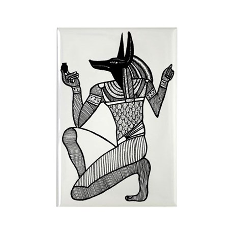 Anubis - Eqyptian Diety Rectangle Magnet