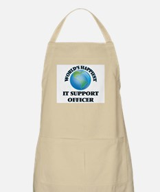 World's Happiest It Support Officer Apron