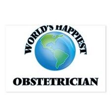 World's Happiest Obstetri Postcards (Package of 8)