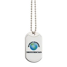 World's Happiest Obstetrician Dog Tags