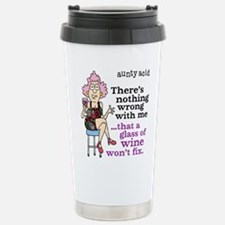 Aunty Acid: Glass of Wi Stainless Steel Travel Mug