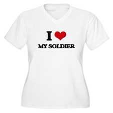 I love My Soldier Plus Size T-Shirt