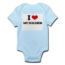 I love My Soldier Body Suit