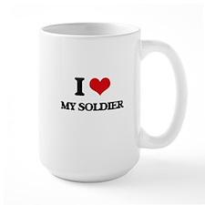 I love My Soldier Mugs