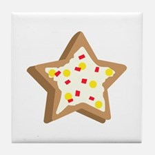 SUGAR COOKIE STAR Tile Coaster