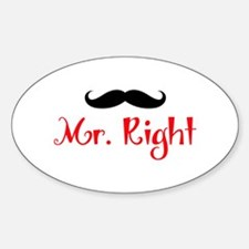 MR RIGHT Decal