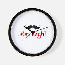 MR RIGHT Wall Clock