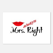 MRS ALWAYS RIGHT Postcards (Package of 8)