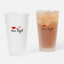 MRS ALWAYS RIGHT Drinking Glass