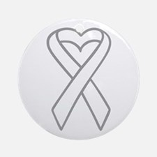 LUNG CANCER RIBBON Ornament (Round)
