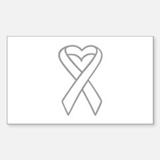 LUNG CANCER RIBBON Decal
