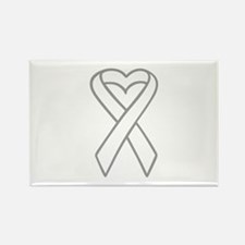 LUNG CANCER RIBBON Magnets