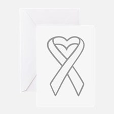 LUNG CANCER RIBBON Greeting Cards