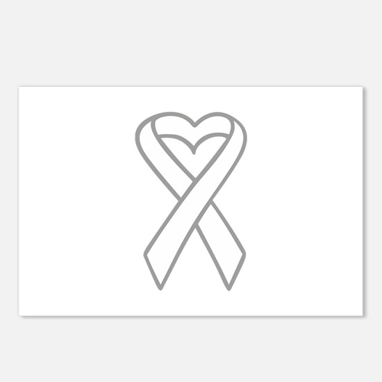 LUNG CANCER RIBBON Postcards (Package of 8)