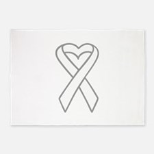 LUNG CANCER RIBBON 5'x7'Area Rug