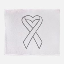 LUNG CANCER RIBBON Throw Blanket