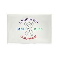 HOPE FAITH COURAGE STRENGTH Magnets