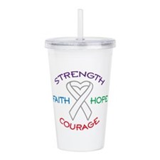 HOPE FAITH COURAGE STRENGTH Acrylic Double-wall Tu